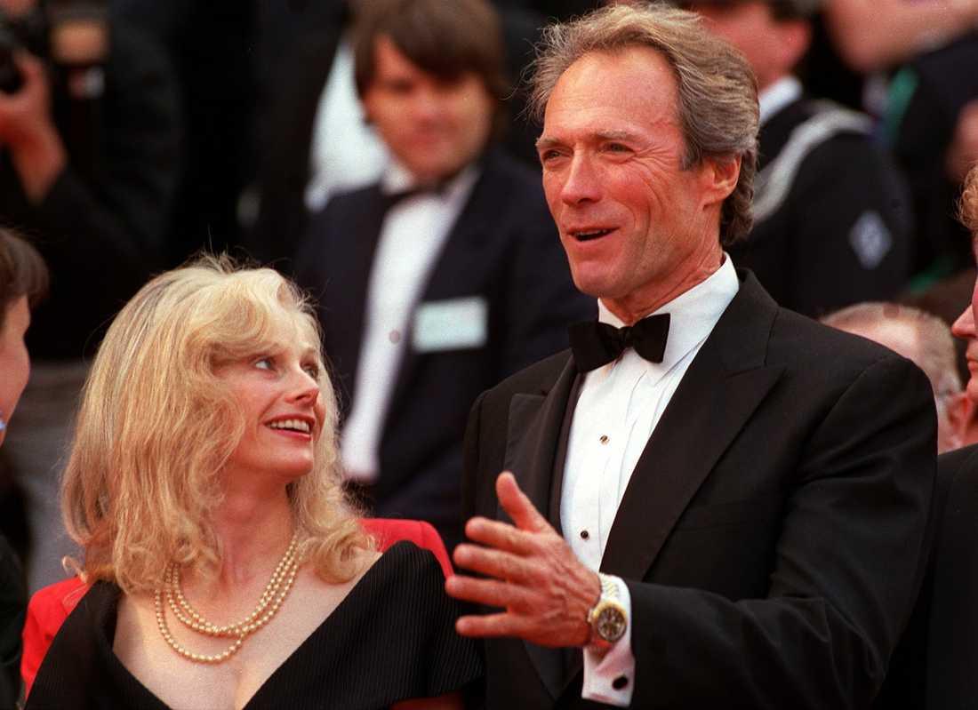Sondra Locke och Clint Eastwood på filmfestivalen i Cannes 1988.