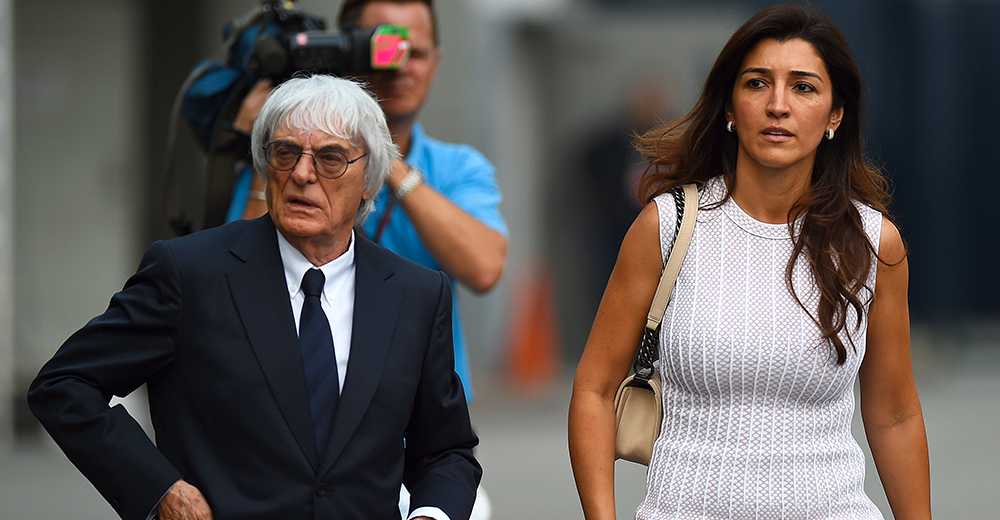 Bernie Ecclestone och Fabiana Flosi.