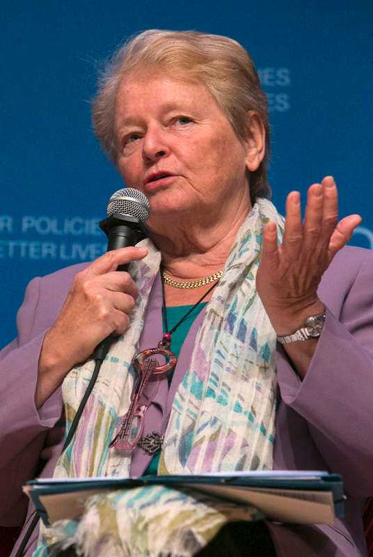 Gro Harlem Brundtland, fd statsminister.
