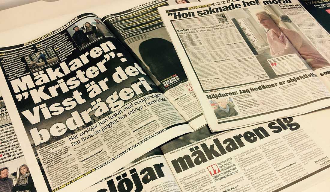 De senaste dagarna har Aftonbladet granskat fusket bland mäklare.