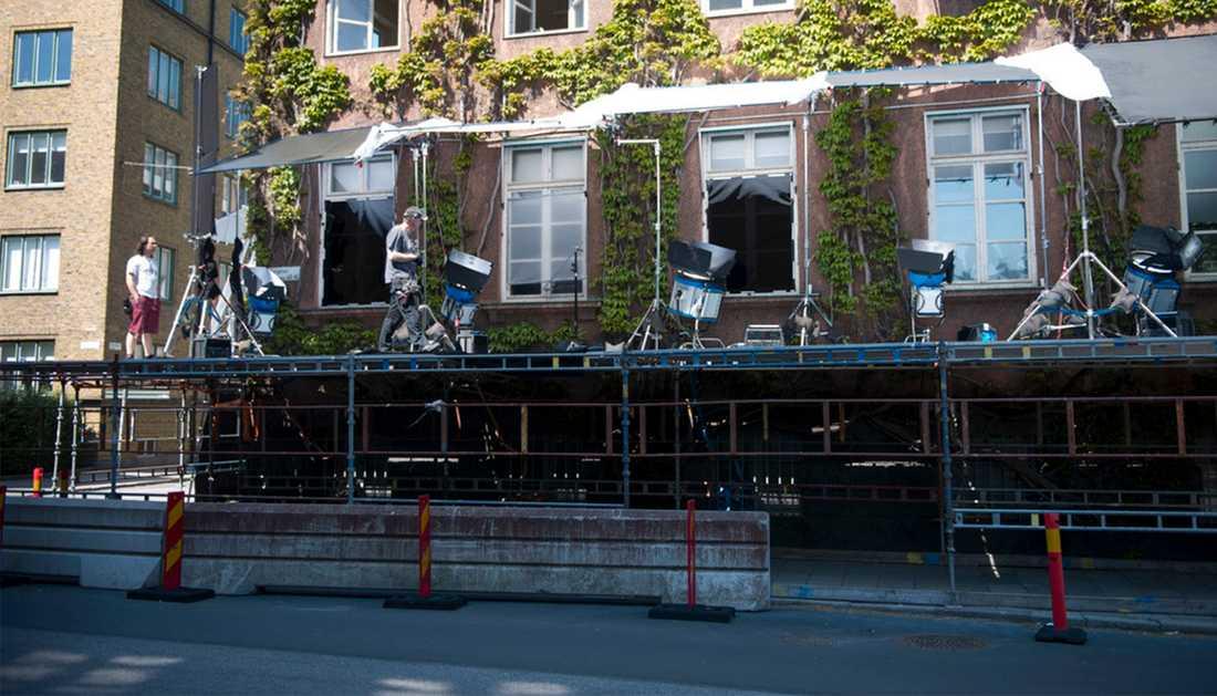 """Inspelningen av """"Bron"""" pågår bland annat i det gamla polishuset i Malmö. Den fjärde säsongen har premiär på nyårsdagen nästa år."""
