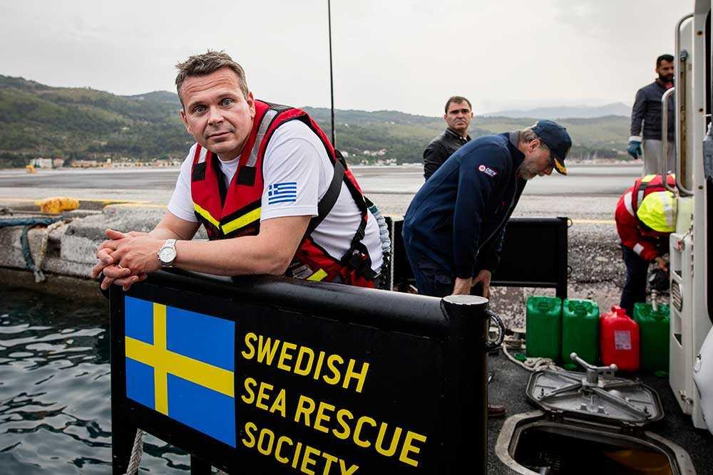 Andreas Arvidsson, operativ chef Sjöräddningssällskapet.