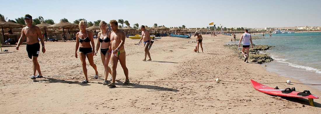 Stranden i Makadi Bay, söder om Hurghada.