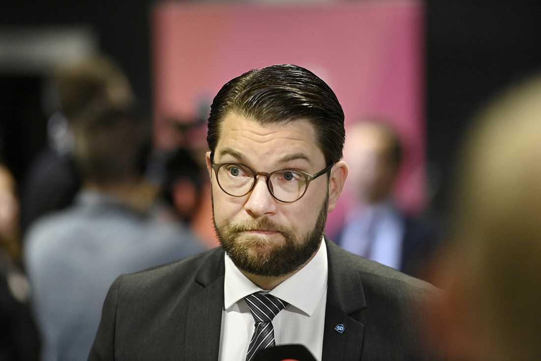 Jimmie Åkesson vill ha ett budgetsamarbete med M och KD.