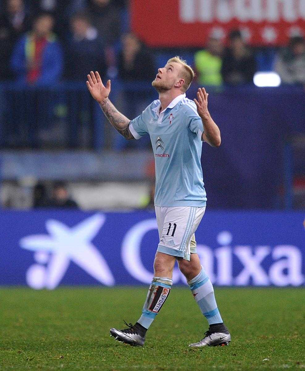 John Guidetti har gjort sex mål på sina fem senaste matcher från start för Celta Vigo.