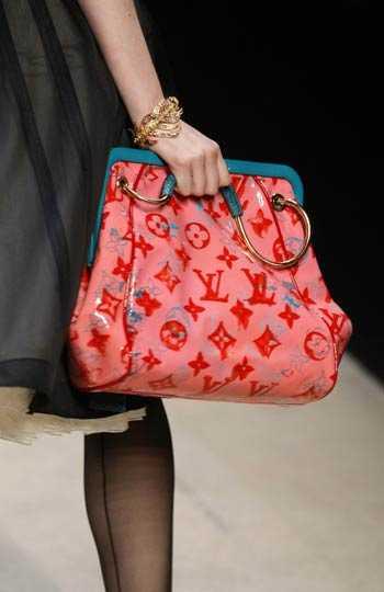 Väskorna var i fokus hos Louis Vuitton.
