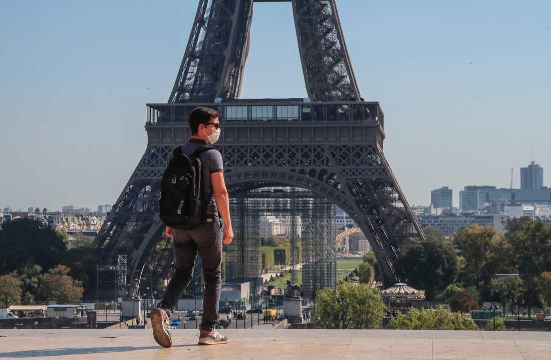 Antalet coronafall ökar i Frankrikes huvudstad Paris. Arkivbild.