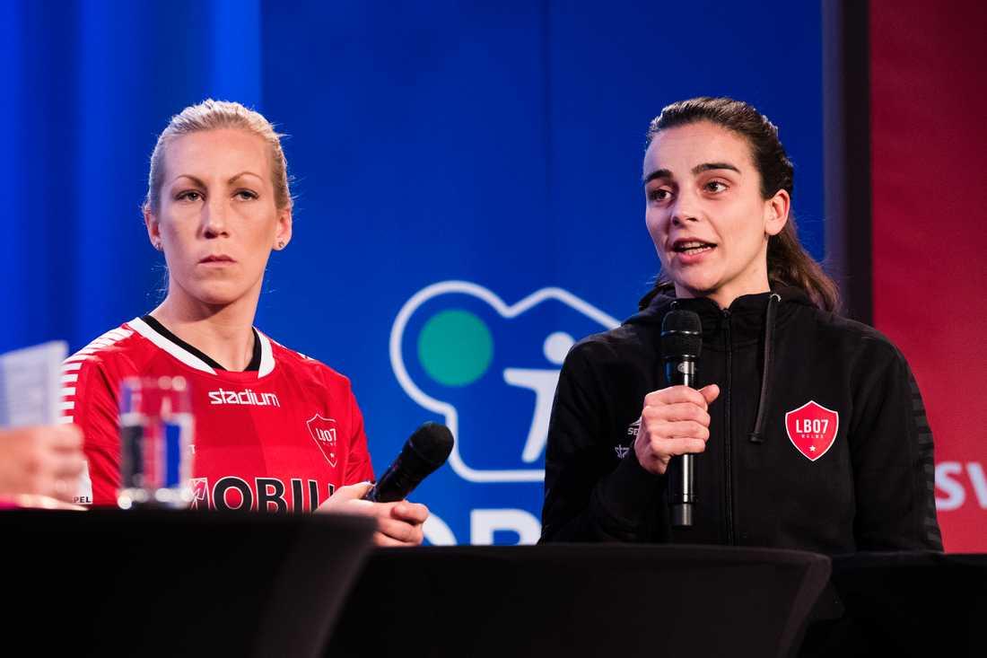 Mia Persson och tränaren Renee Siegers i LB07.