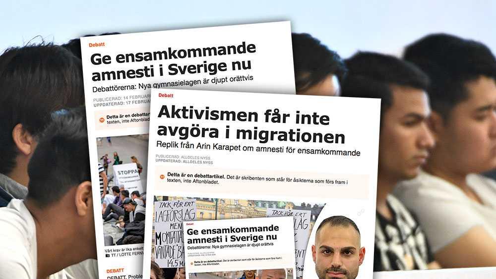 """Nej Arin Karapet, det är enkelt att kalla vår kampanj och alla som stödjer den för """"naiva aktivister"""", och att ett nej ska vara ett nej. Men det finns en gräns för hur omänskligt man får behandla unga som kommit hit för att söka skydd, skriver debattörerna i en slutreplik till Arin Karapet (M)."""