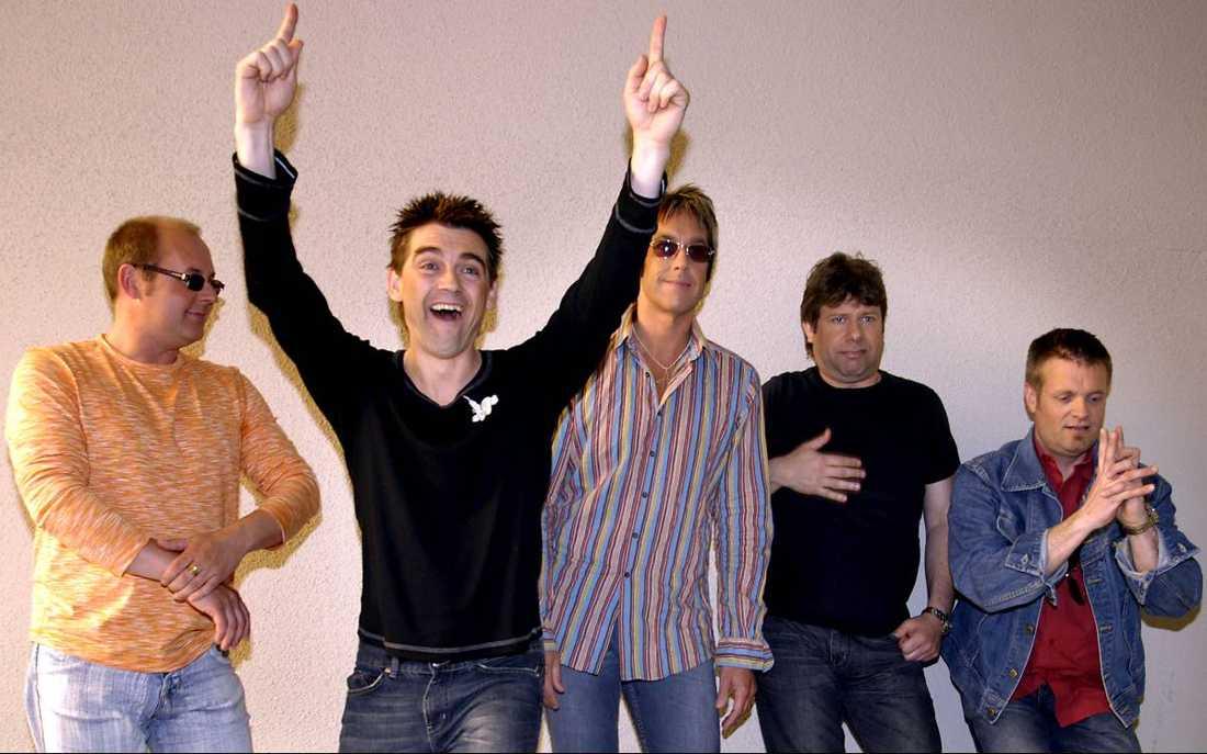 Anders Herrlin (tvåa från vänster)Ålder: 51.Instrument: Bas.