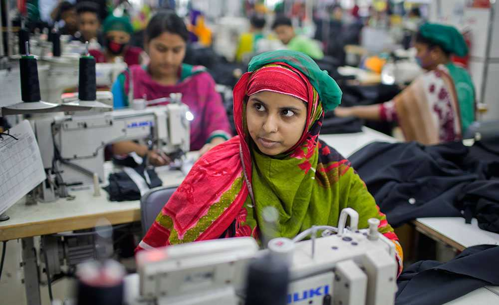 Textilarbetare i Bangladesh.