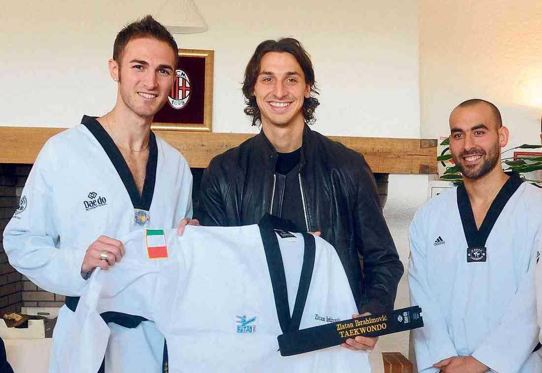 Här syns 'Ibra' med sitt ceremoniella svarta bälte. Nu har även Zlatans söner gett sig in i sporten.