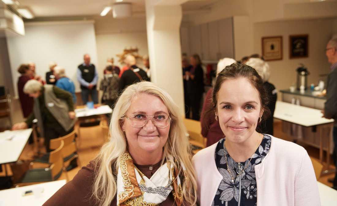 Carina Bergman och Caroline Larsson håller i träffpunkt Granen.