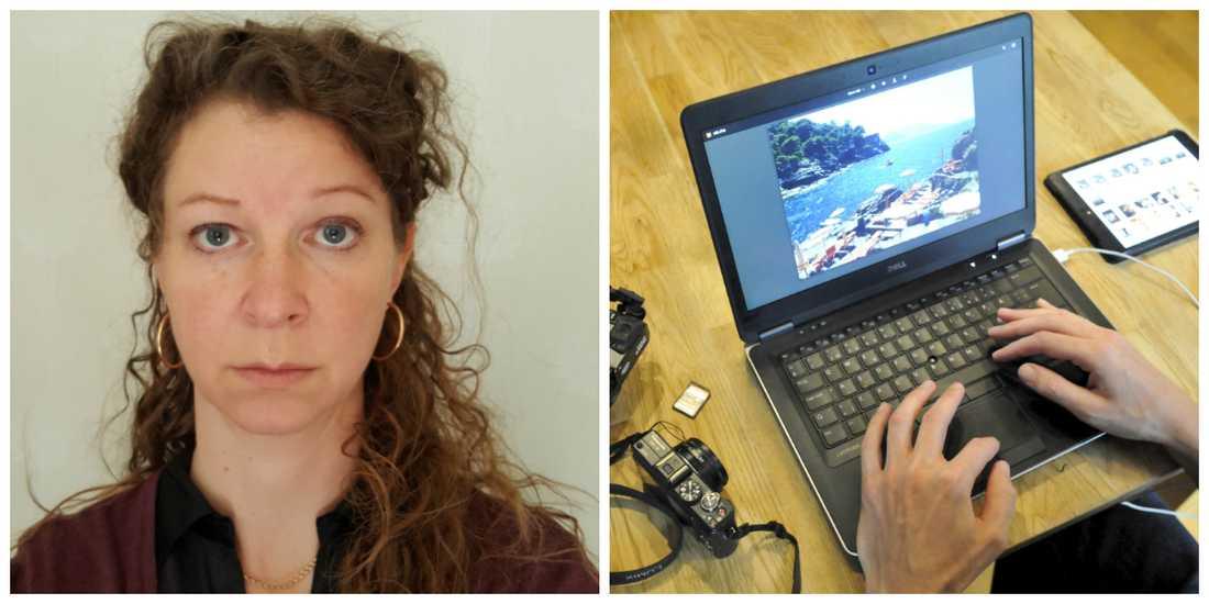 Karins foton och dagbok blev stulna. Nu erbjuder hon tjuven hittelön. (Fotot till höger är en exempelbild).