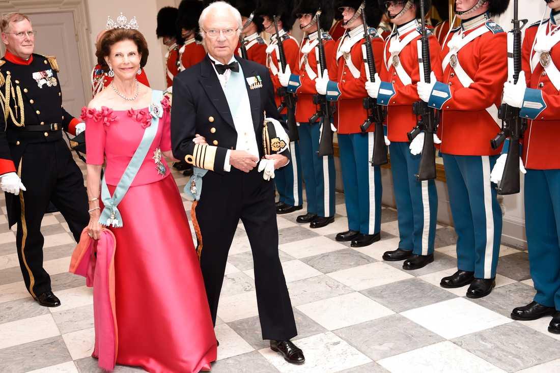 Kungen och drottning Silvia.