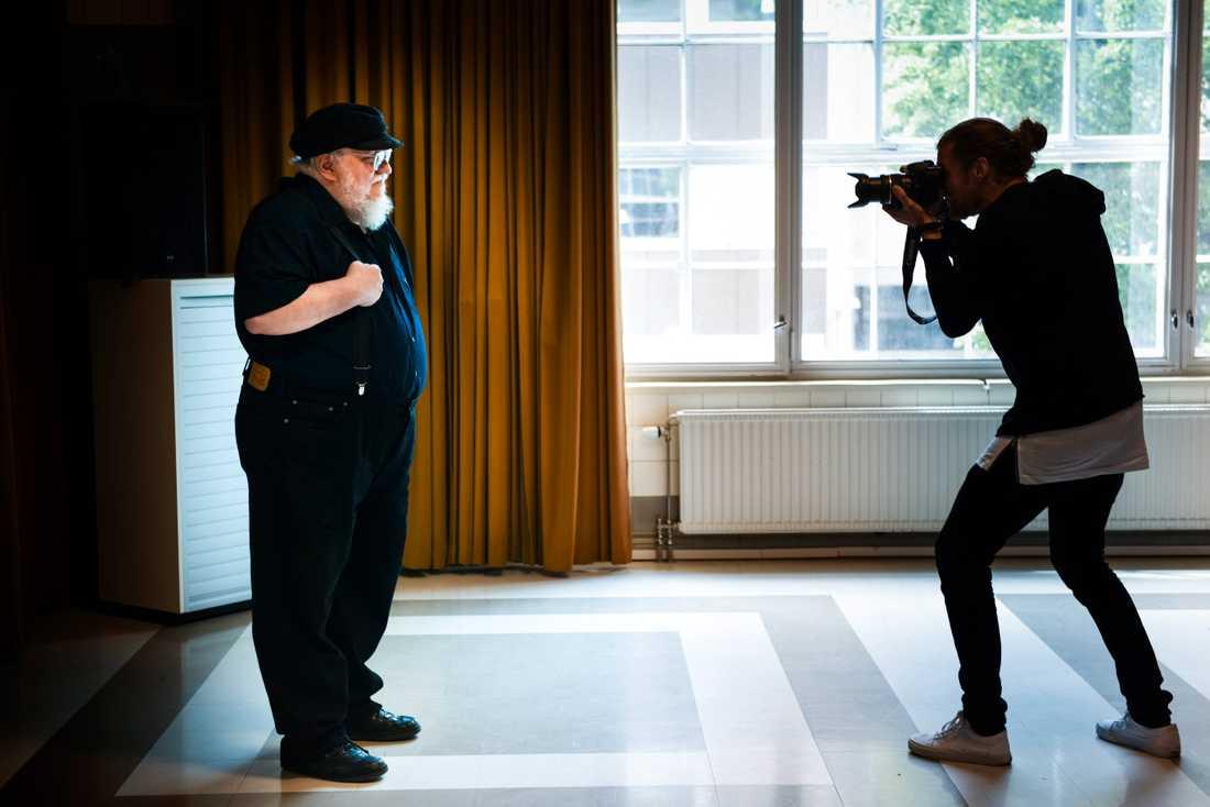 Författaren George RR Martin vid ett besök i Stockholm. Arkivbild.