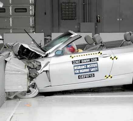 BMW 3-serie Svagt sidoskydd.