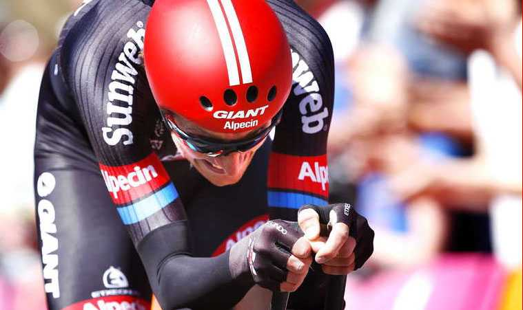 Mjölksyra Tobias Ludvigsson på tempocykeln under den succéartade inledande etappen av årets Giro d'Italia.