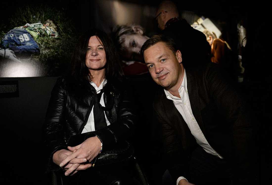 Aftonbladets biträdande redaktionschef Maria Trägårdh tillsammans med redaktionschefen Håkan Andreasson.