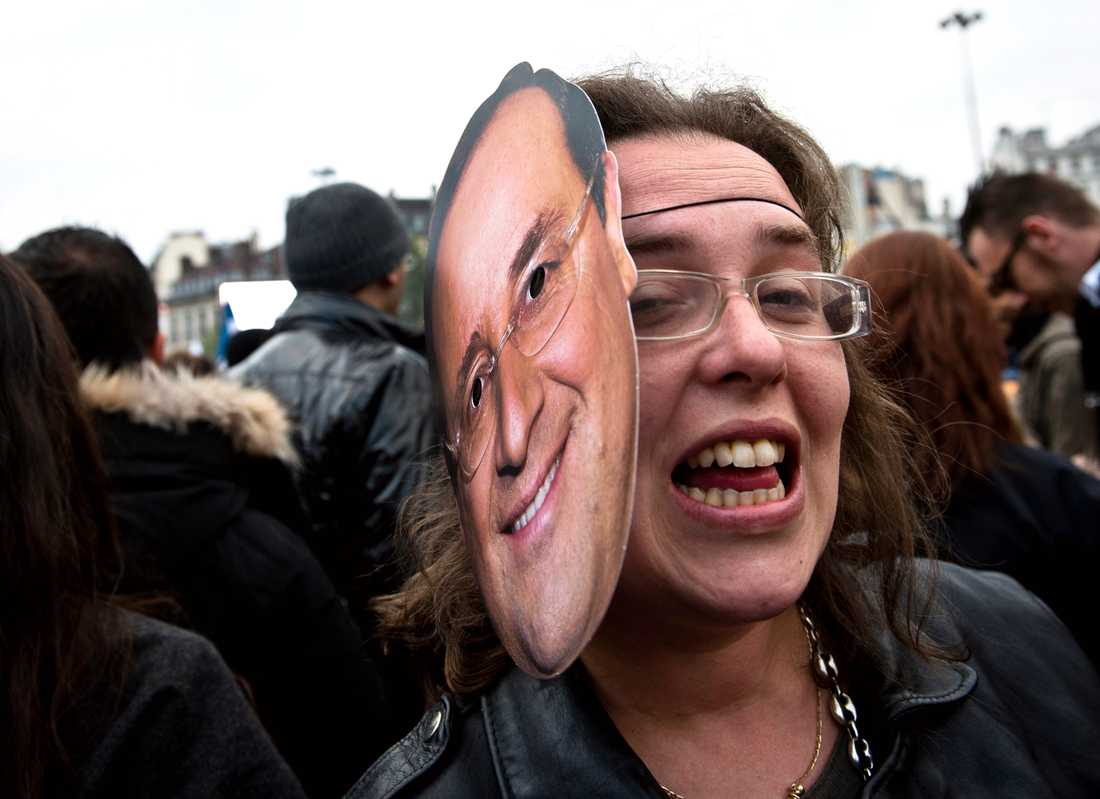 """""""Jag är Frankrikes nya president, sa kvinna och firade vidare."""""""