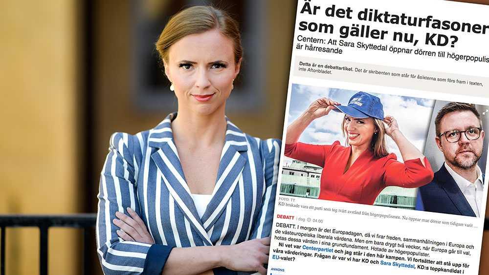 Centerpartiet har drabbats av valfeber och dess toppnamn i valet till Europaparlamentet har passerat alla gränser för anständighet, skriver Sara Skyttedal.
