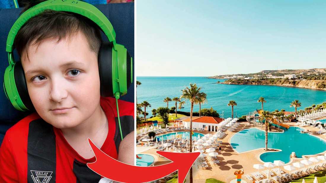 En av Alexanders drömmar är att ta med hela familjen i Sunes fotspår – och resa till Grekland.