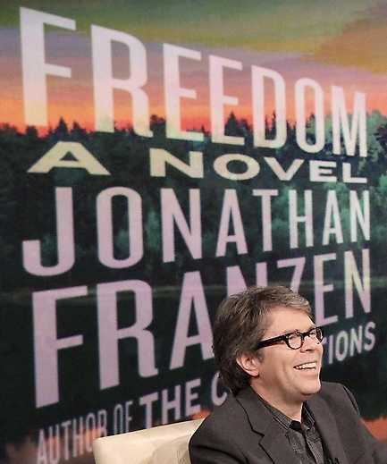 Franzen och hans bok.