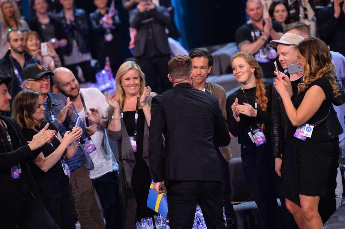 Här träffar Frans Justin Timberlake.