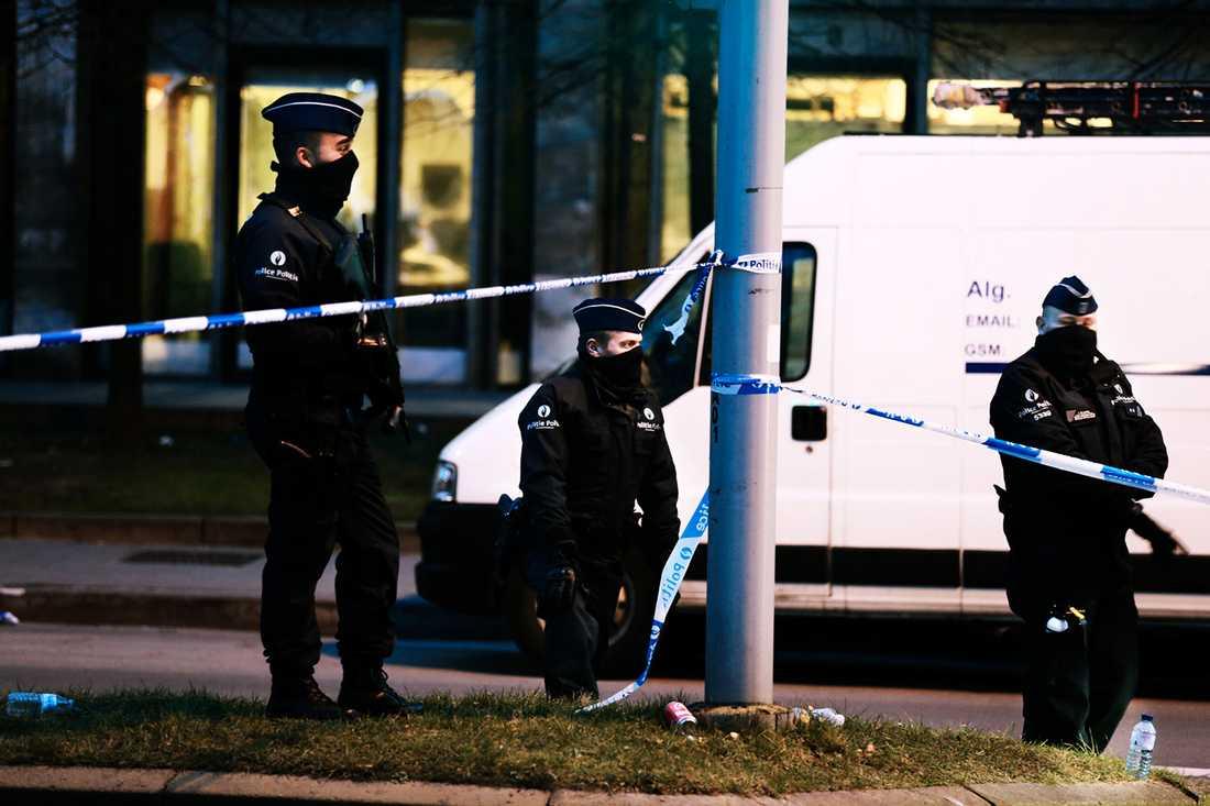 Polispådrag dagen för dåden.
