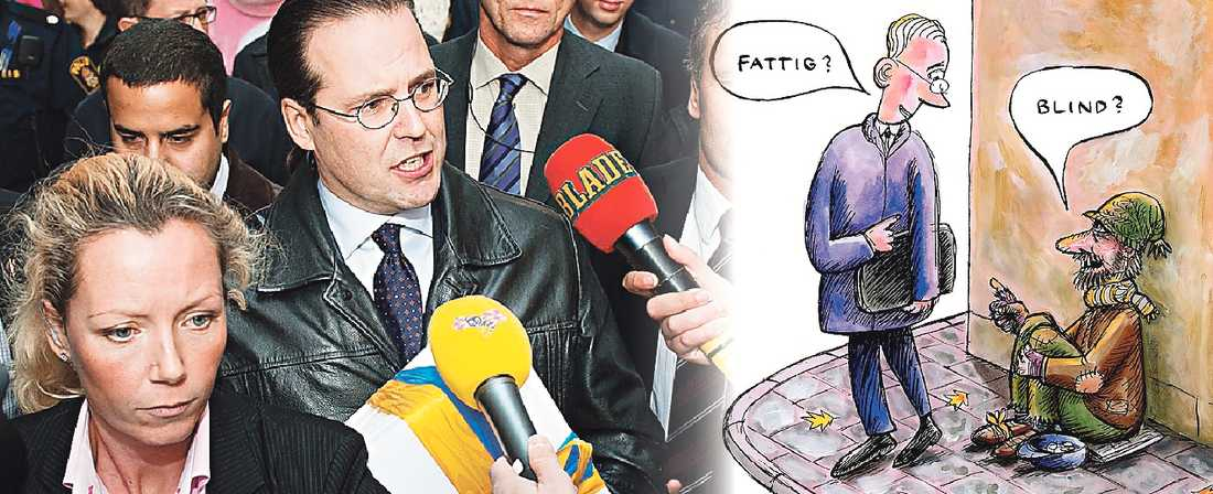 Talande tystnad De rikare blir rikare och de fattigare blir fattigare i Sverige. Men finansminister Anders Borg, som för bara något år sedan pekade ut bonussystemen som en av faktorerna bakom finanskrisen, är tyst.