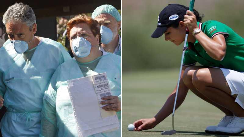 OROSOMRÅDE. LPGA-tourens Corona Championship spelades bara några timmar bort från de områden som drabbats hårtaest av svininfluensan.
