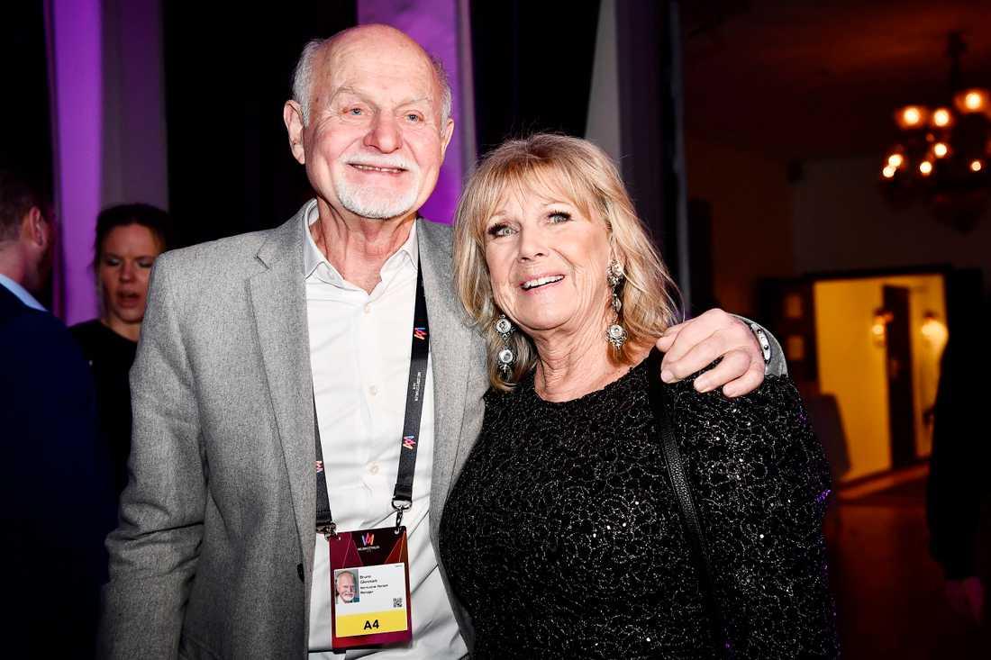 Ann-Louise Hansson med Bruno Glenmark.