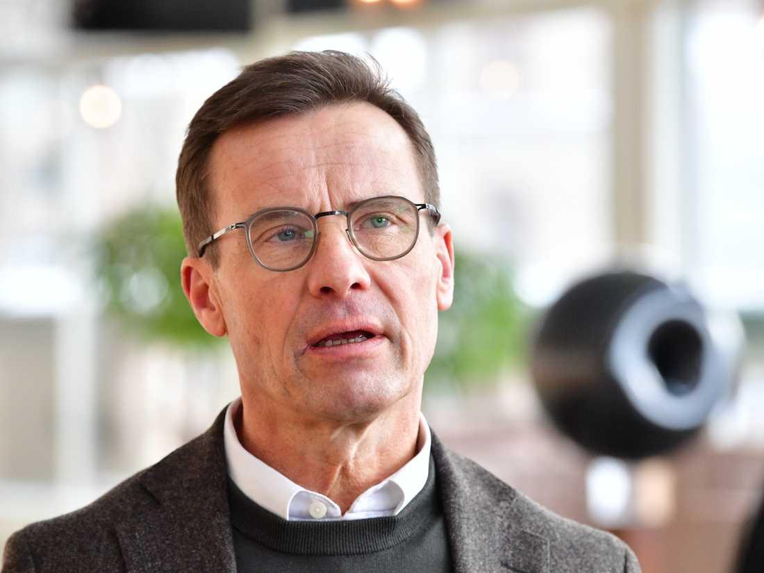 Moderaternas partiledare Ulf Kristersson är kritisk till att dagens samtal snarast blev ett informationsmöte. Arkivbild.