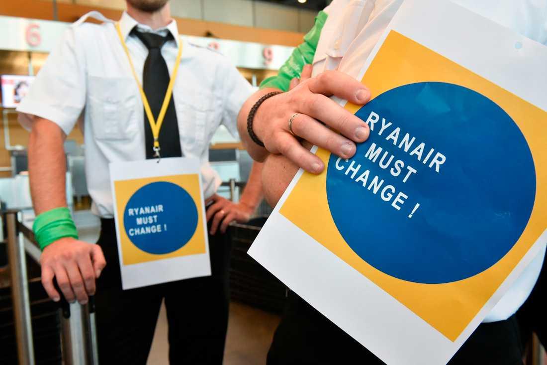 Ryanair-piloter strejker i Belgien.