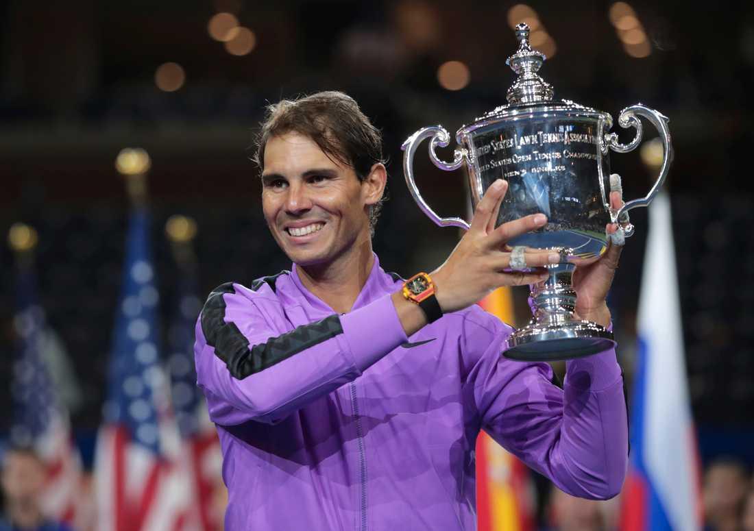 Rafael Nadal vann US Open-finalen över Daniil Medvedev.