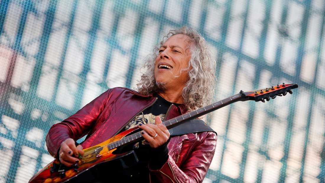 Kirk Hammett på Ullevi.