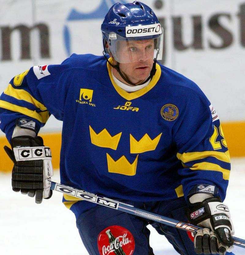 Greger Artursson i Tre Kronor-dressen.