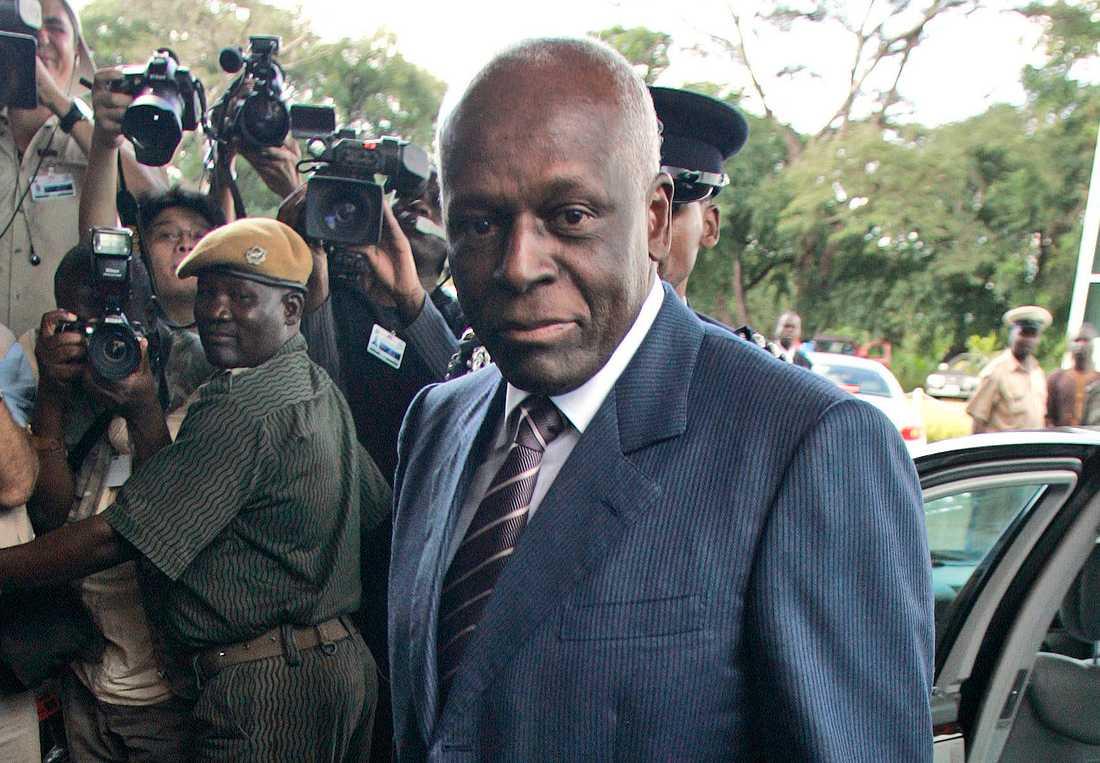 Angolas expresident José dos Santos. Arkivbild.