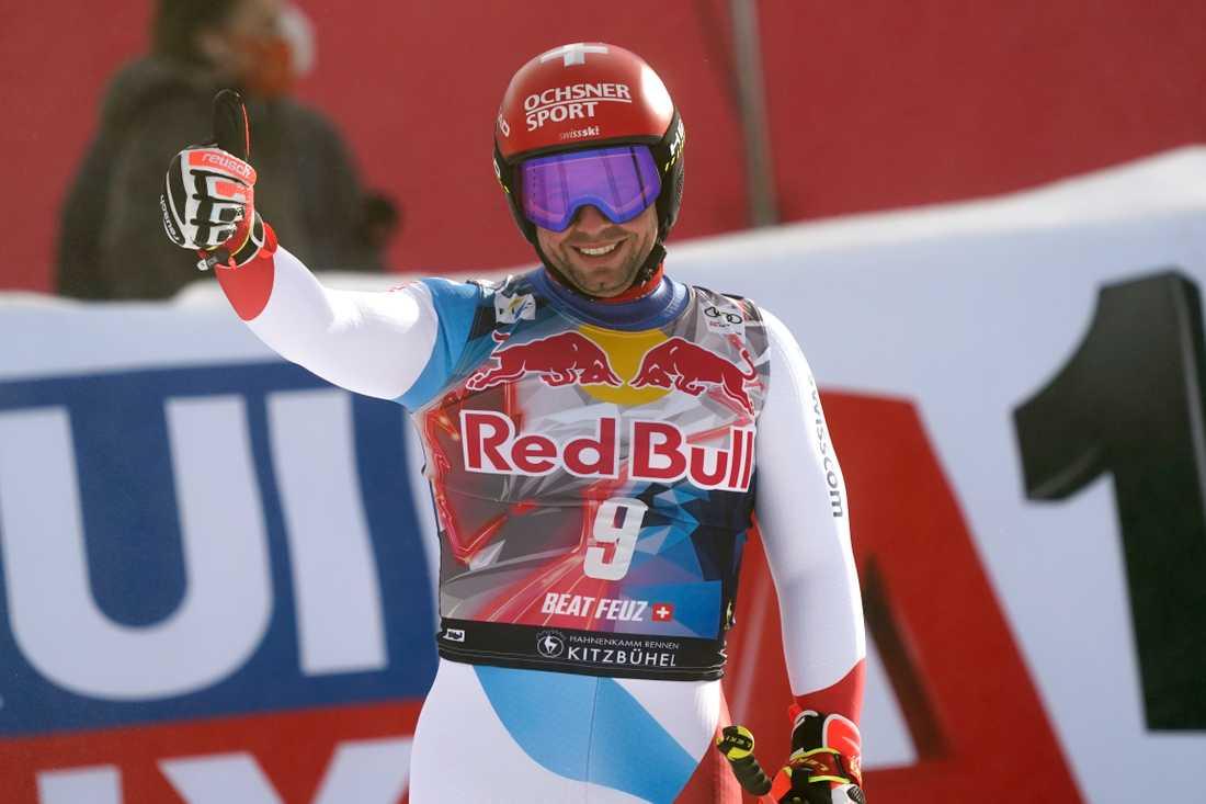 Beat Feuz vann Hahnenkammrennen i Kitzbühel.