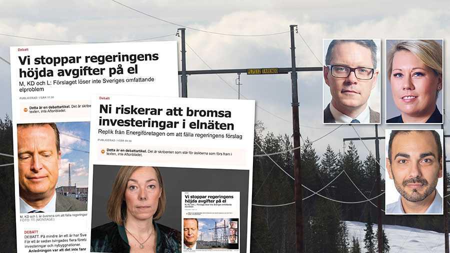 Det är regeringen som lagt fram ett otillräckligt och oförankrat förslag i riksdagen. Att hävda att vi bromsar utvecklingen av elnäten är grundlöst, skriver Lars Hjälmered, Camilla Brodin och Arman Teimouri.