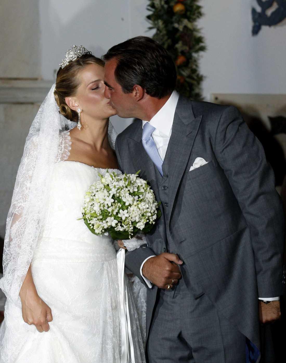 """""""Du är den mest fantastiska människan jag vet"""", sa brudgummen prins Nikolaos till sin brud Tatiana Blatnik."""