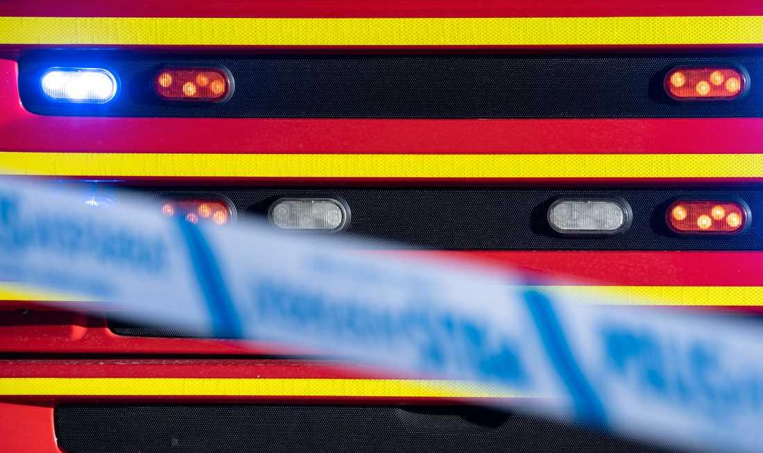 En brand i ett garage orsakade kraftig rökutveckling. Arkivbild.