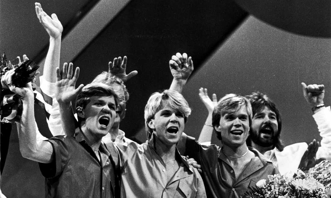 """Herreys vann i Luxemburg 1984 med """"Diggi-loo-diggi-ley""""."""