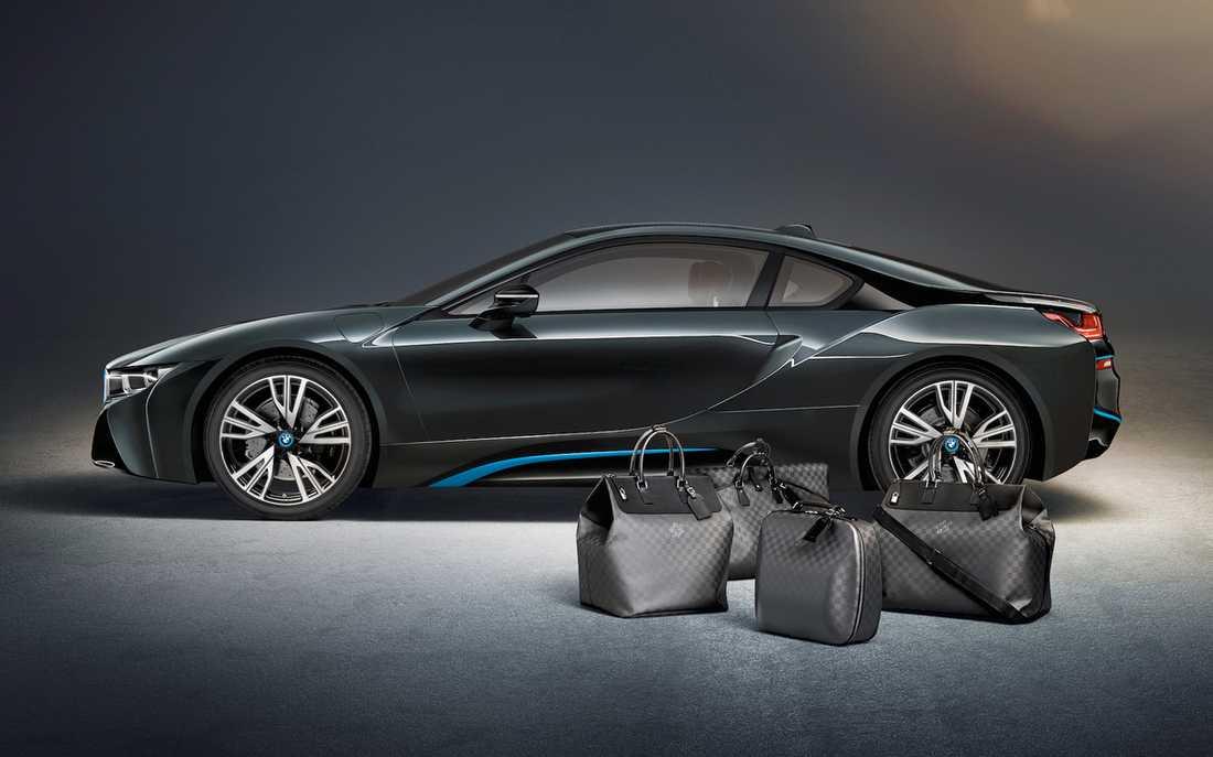 Självklart passar inte en vanlig Samsonite i en BMW i8, nej Luis Vuitton ska det vara.