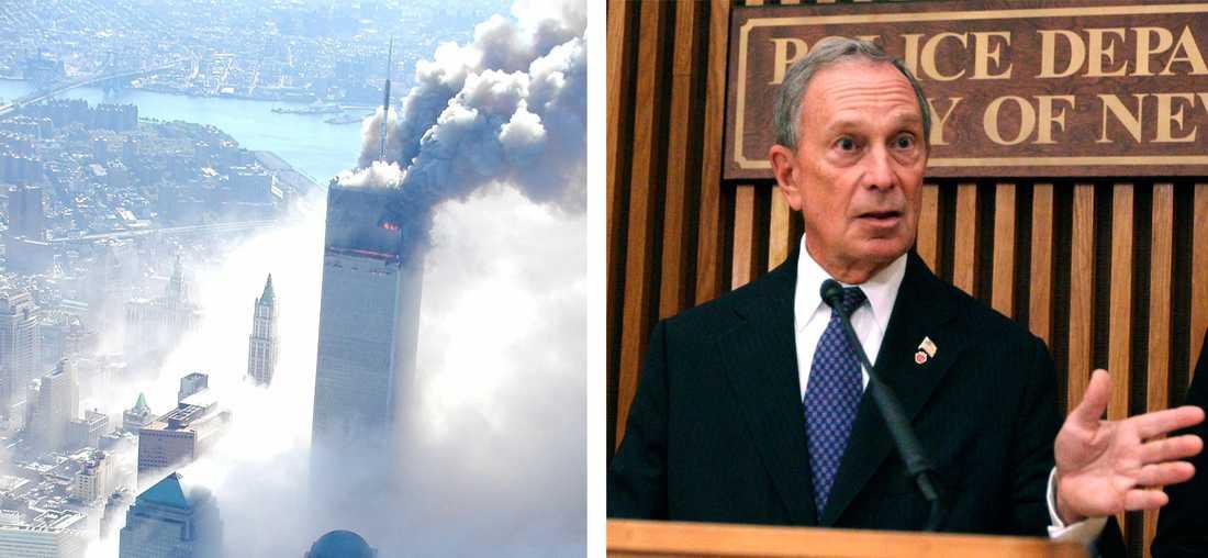 New Yorks borgmästare Michael Bloomberg uppmanar medborgarna att vara extra vaksamma på årsdagen av terrordåden i New York 2001.