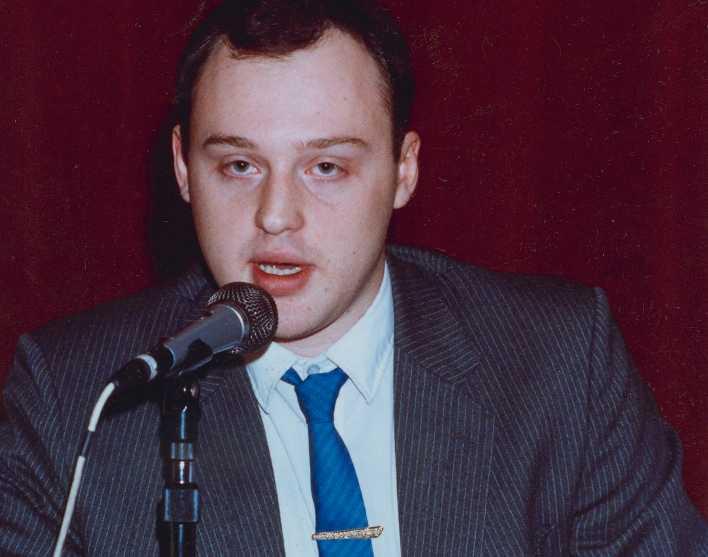Anders Klarström, Sverigedemokraternas tidigare ordförande ledde partiet 1988.