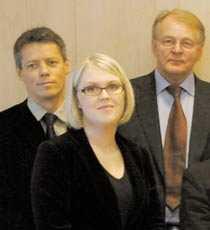 Ungdomsminister Lena Hallengren med ministerkollegorna Orback och Karlsson.