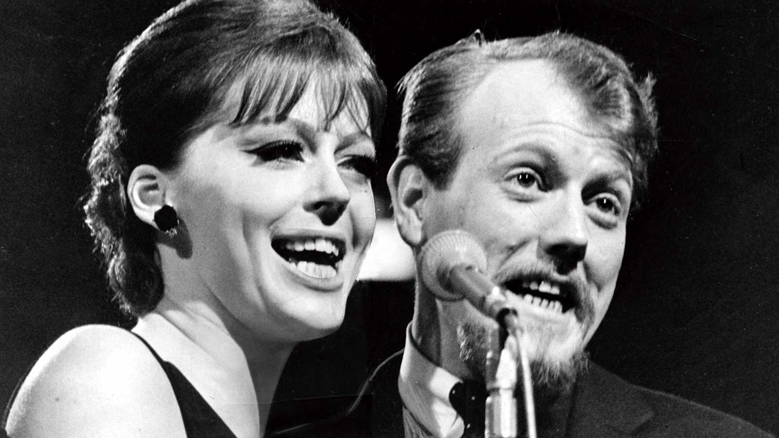 Svante Thuresson och Lill Lindfors i Melodifestivalen 1966.