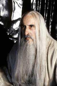 Christopher Lee som Saruman.
