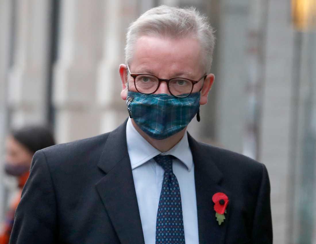 Brexitansvarige brittiske ministern Michael Gove. Arkivfoto.